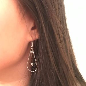 Sterling Silver Chandelier Teardrop Twist Earrings